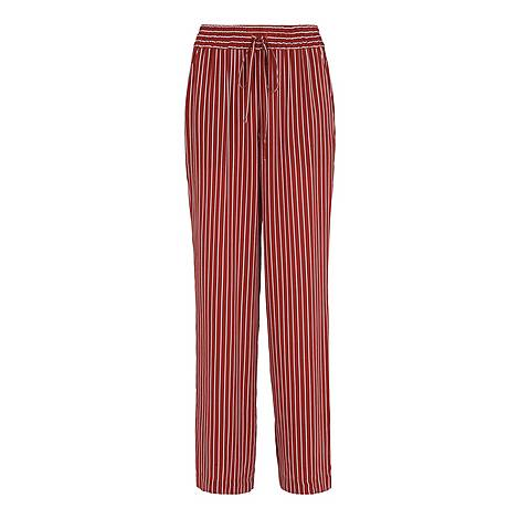 Stripe Wide Leg Trousers, ${color}