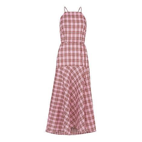 Julietta Check Strappy Dress, ${color}