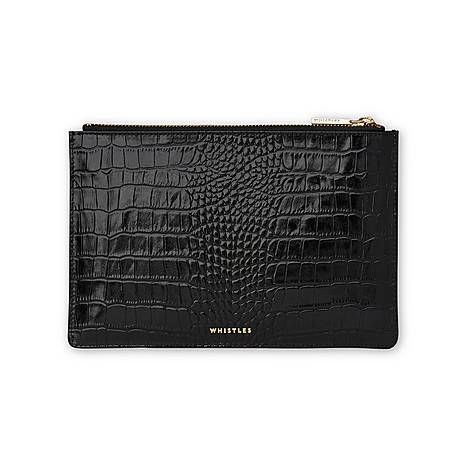 Shiny Croc Small Clutch, ${color}