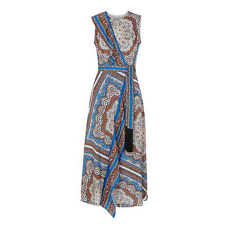 Aadya Scarf Print Dress, ${color}