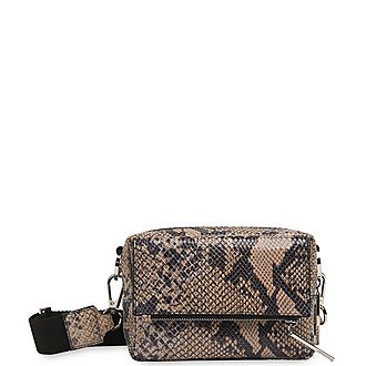 Bibi Snake Print Crossbody Bag