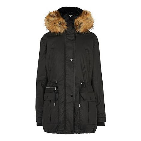 Willow Waxy Parka Jacket, ${color}
