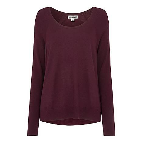 Scoop Neck Silk Mix Sweater, ${color}