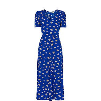 Scattered Daisy Midi Dress