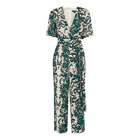 Baroque Print Jumpsuit, ${color}