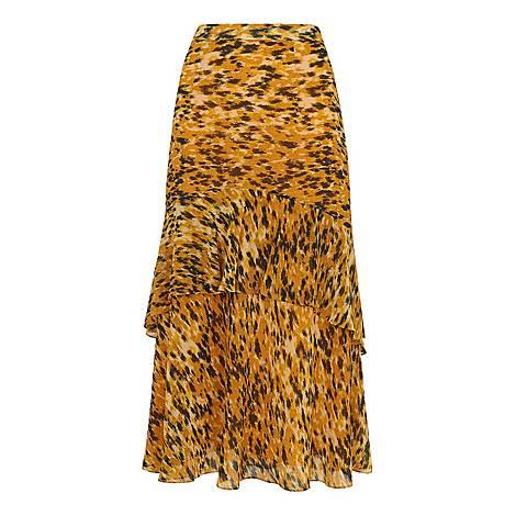 Ikat Animal Midi Skirt, ${color}