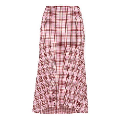 Check Seersucker Skirt, ${color}
