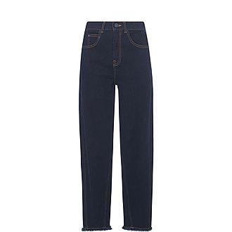 High-Waist Barrel Leg Jeans