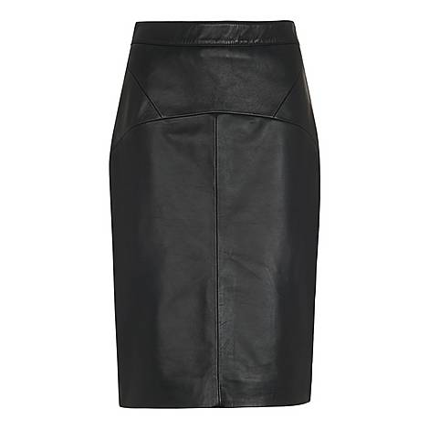 Kel Leather Pencil Skirt, ${color}