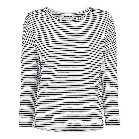 Stripe Crew Neck T-Shirt, ${color}