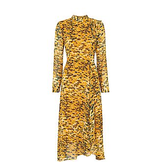 Ines Ikat Animal Dress
