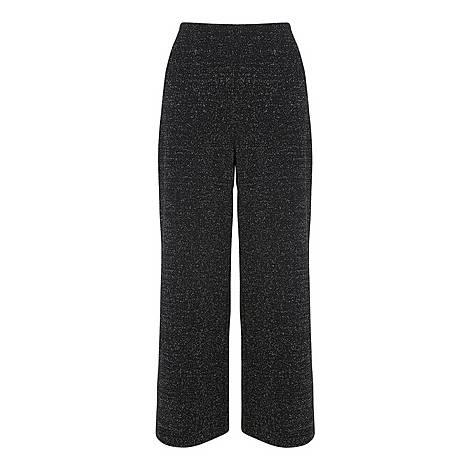Metallic Wide Leg Trousers, ${color}