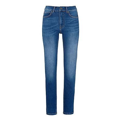 Mid Wash Skinny Jeans, ${color}