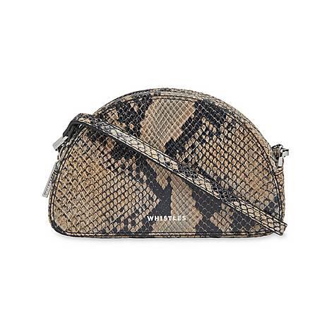 Jasmin Snake Halfmoon Bag, ${color}