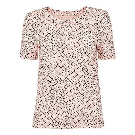Giraffe Print Rosa T-Shirt, ${color}