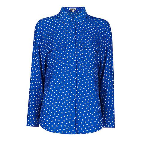 Abstract Spot Print Selma Blouse, ${color}