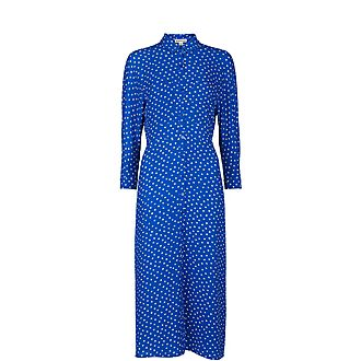 Abstract Spot Selma Tie Dress