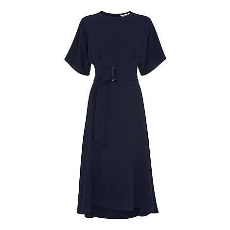 Belted Midi Dress, ${color}