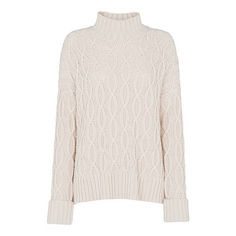 Oversized Cable Knit Sweater, ${color}