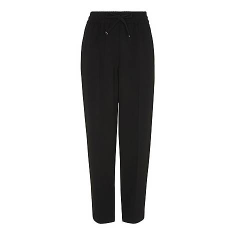 Crepe Tapered Joggers, ${color}