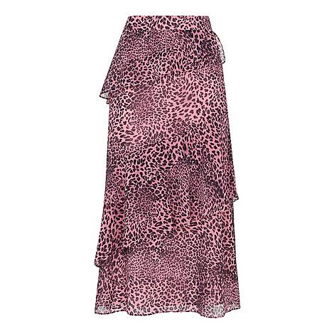 Wild Cat Print Skirt, ${color}
