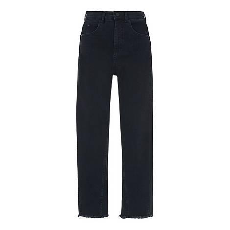 High-Waist Barrel Leg Jeans, ${color}