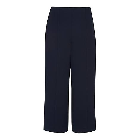 Flat Front Cropped Trousers, ${color}