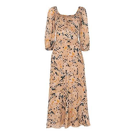 Leopard Print Silk Dress, ${color}