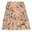 Leopard Print Silk Skirt, ${color}