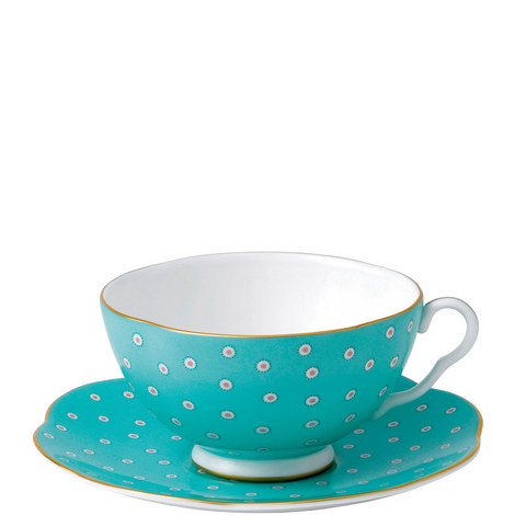 Polka Dot Tea Story Teacup and Saucer, ${color}