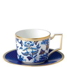 Hibiscus Teacup and Saucer Set