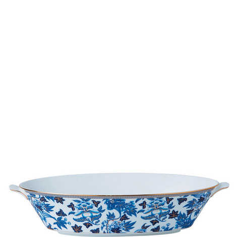 Hibiscus Floral Oval Serving Dish 1.3L, ${color}