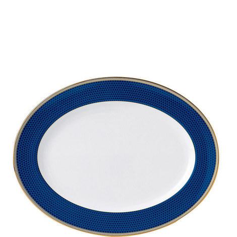 Hibiscus Accent Oval Platter 39cm, ${color}