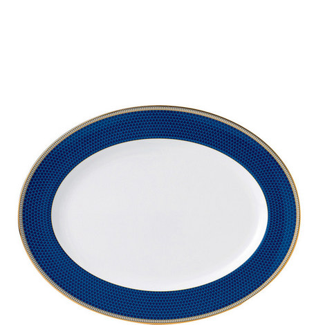 Hibiscus Accent Oval Platter 39cm, ${color}