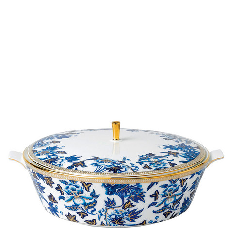 Hibiscus Floral Covered Vegetable Dish 1.5L, ${color}