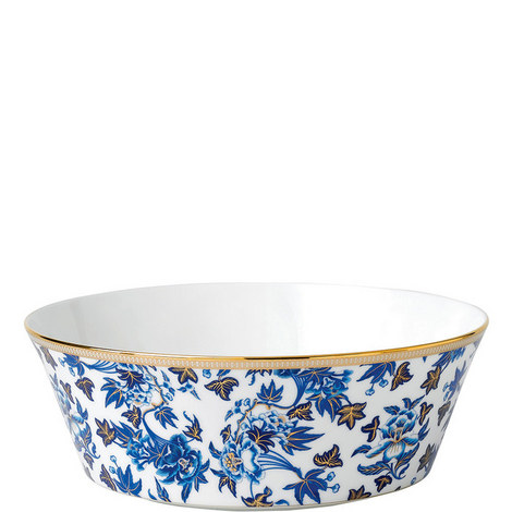 Hibiscus Round Floral Serving Bowl 25cm, ${color}
