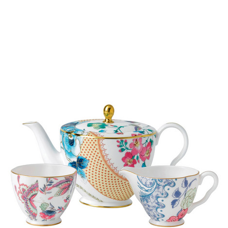 Butterfly Bloom Teapot, Cream and Sugar, ${color}