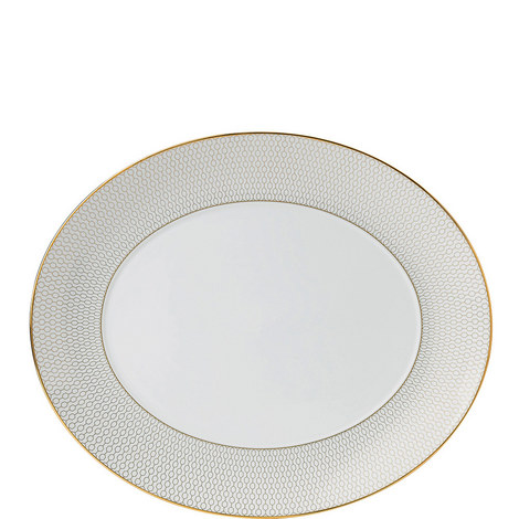 Arris Oval Serving Platter 33cm, ${color}