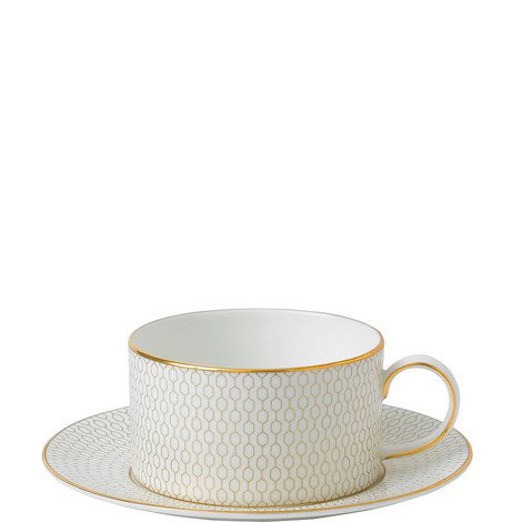 Arris Teacup and Saucer, ${color}