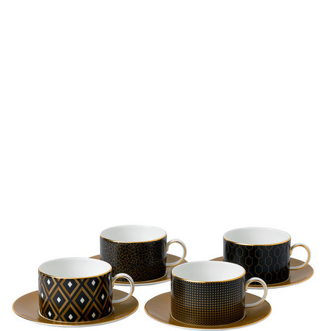 Arris 4 Teacups and Saucers, ${color}