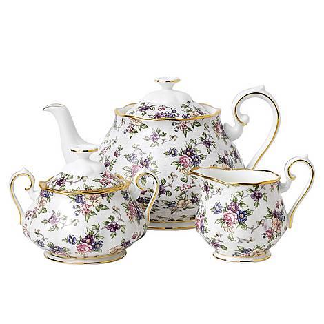 100 Years English Chintz 1940 Teapot Set, ${color}