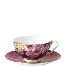 Tea Garden Teacup and Saucer Set