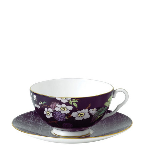Tea Garden Teacup and Saucer Set, ${color}