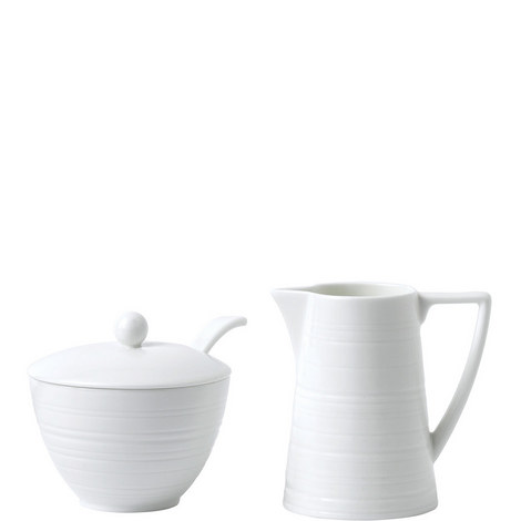 Jasper Conran Strata Milk Jug and Sugar Bowl, ${color}