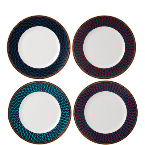 Byzance Set of 4 Plates 20cm, ${color}