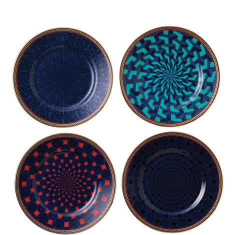 Byzance Set of 4 accent Plates 15cm, ${color}