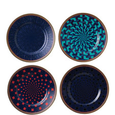 Byzance Set of 4 accent Plates 15cm