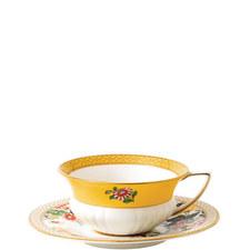 Wonderlust Primrose Teacup and Saucer