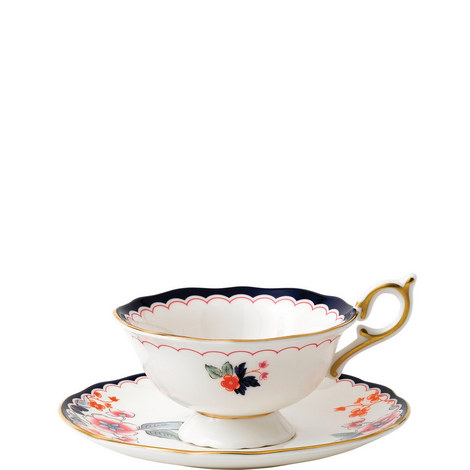 Wonderlust Jasmine Bloom Teacup and Saucer, ${color}