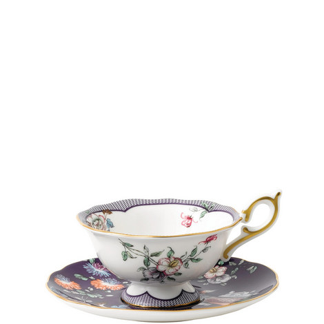 Wonderlust Midnight Crane Teacup and Saucer, ${color}